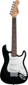 If you think your child is more interested in electric guitar, this Fender Squire Mini is awesome.